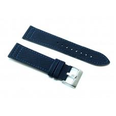 Cinturino  orologio in cordura blu fondo pelle 18mm kevlar tela nato 416 watch strap