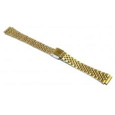 Cinturino in acciaio compatibile con orologi casio LA680WG 14mm watch starp dorato