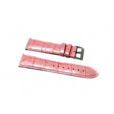 Cinturino orologio guess originale pelle rosa stampa coccodrillo ansa 16mm