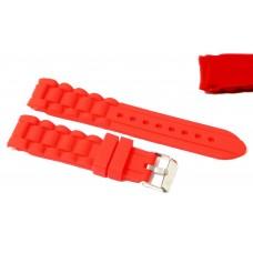 Cinturino in silicone rosso per orologio ansa curva 20mm compatibile nautica 3 gomma caucciù