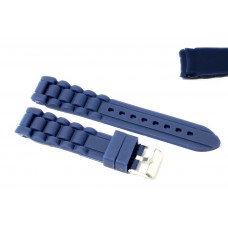 Cinturino in silicone blu per orologio curva 20mm compatibile nautica 3 gomma caucciù