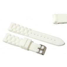Cinturino in silicone bianco per orologio curva 20mm compatibile nautica 3 gomma caucciù