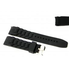 Cinturino in silicone nero per orologio curva 22mm compatibile nautica 3 gomma caucciù