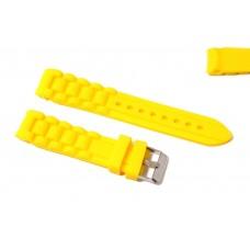 Cinturino in silicone giallo per orologio ansa curva 20mm compatibile nautica 3 gomma caucciù