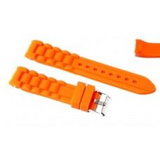Cinturino in silicone per orologio arancione curva 20mm compatibile nautica 3 gomma caucciù