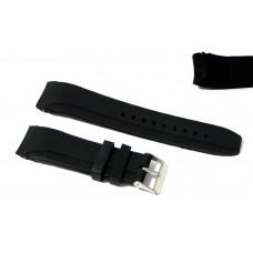 Cinturino in silicone nero per orologio curva 22mm compatibile nautica 4 gomma caucciù