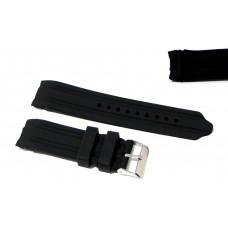 Cinturino in silicone nero per orologio curva 22mm compatibile nautica 5 gomma caucciù