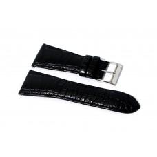 Cinturino in vera pelle originale guess nero stampa coccodrillo ansa 30mm watch