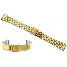 Cinturino acciaio  color oro compatibile con orologi casio ansa 18mm a158wa dorato