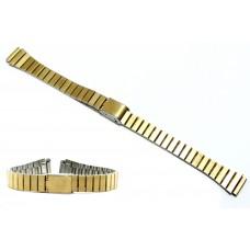 Cinturino acciaio color oro compatibile con orologi casio lady 12mm la670wa dorato