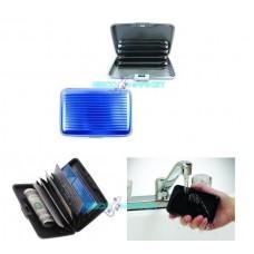 Portafoglio astuccio porta carte di credito portafoglio blu impermeabile