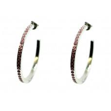 Orecchini Acciaio Inox anallergico e swarovski rosa Donna OR200SW