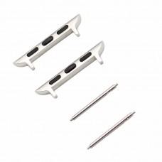 2 Adattatori compatibili acciaio inox  per cinturino Apple 38/40mm max 22mm