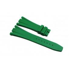 Cinturino in gomma verde per orologio 28mm compatibile Audemars Piguet ROYAL OAK 41mm silicone caucciù