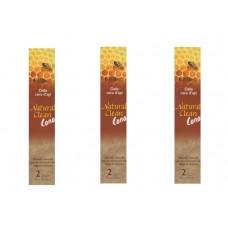 kit 6 coni Natural Clean Cono Auricorale dalla cera d'api metodo naturale dei tappi di cerume orecchie