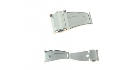 Fibbia con pulsanti per orologio in acciaio inox 22mm chiusura di sicurezza crt silver