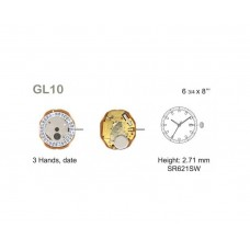 Meccanismo o movimento al quarzo per orologi miyota gl10 made in japan orologio watch