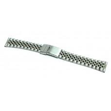 Cinturino orologio jubilee acciaio inox ansa dritta 18mm deployante jm308 compatibile rolex