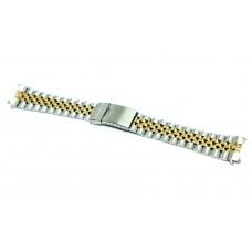 Cinturino orologio jubilee acciaio inox bicolor ansa curva 20mm deployante jm309b compatibile rolex