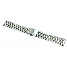 Cinturino per orologio president in acciaio pesante Satinato 24mm mse17 compatibile rolex watch strap