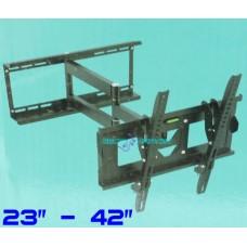 """Staffa da parete per tv lcd plasma da 23"""" a 42"""" p115st supporto inclinabile 35kg"""