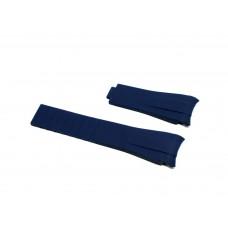 Cinturino in silicone blu compatibile orologio Rolex - Omega 20mm curva caucciu' gomma watch strap